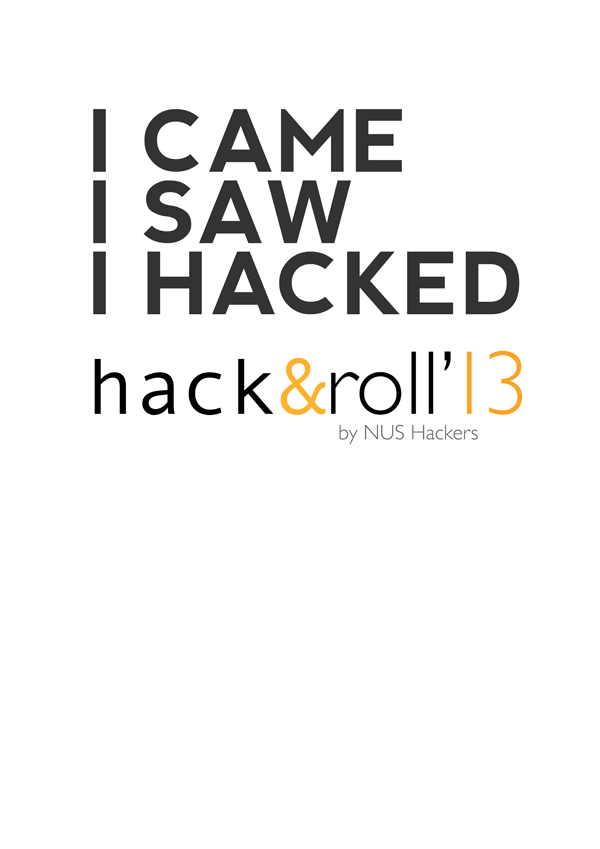 Hack&Roll Shirt Design Alt